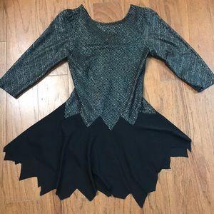 Vintage disco black punk dance mini costume dress-